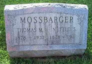MOSSBARGER, NETTIE S. - Ross County, Ohio | NETTIE S. MOSSBARGER - Ohio Gravestone Photos