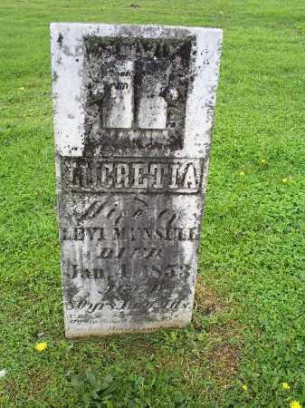 MUNSELL, LUCRETIA - Ross County, Ohio | LUCRETIA MUNSELL - Ohio Gravestone Photos