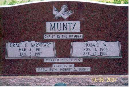 MUNTZ, HOBART W. - Ross County, Ohio | HOBART W. MUNTZ - Ohio Gravestone Photos