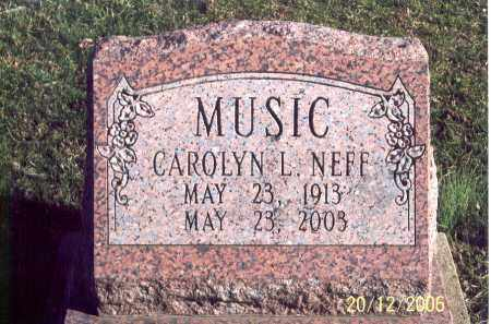 NEFF MUSIC, CAROLYN L. - Ross County, Ohio | CAROLYN L. NEFF MUSIC - Ohio Gravestone Photos