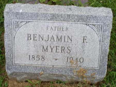 MYERS, BENJAMIN F. - Ross County, Ohio | BENJAMIN F. MYERS - Ohio Gravestone Photos