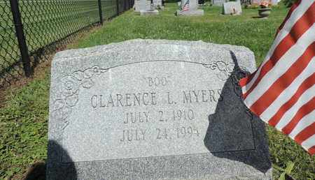 MYERS, CLARENCE L. - Ross County, Ohio | CLARENCE L. MYERS - Ohio Gravestone Photos