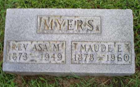 MYERS, REV. ASA M. - Ross County, Ohio | REV. ASA M. MYERS - Ohio Gravestone Photos