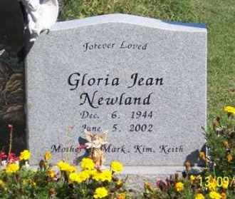 NEWLAND, GLORIA JEAN - Ross County, Ohio | GLORIA JEAN NEWLAND - Ohio Gravestone Photos
