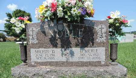 NOBLE, MILION D - Ross County, Ohio | MILION D NOBLE - Ohio Gravestone Photos