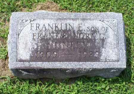 NUNLEY, FRANKLIN E. - Ross County, Ohio | FRANKLIN E. NUNLEY - Ohio Gravestone Photos