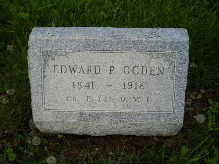 OGDEN, EDWARD P. - Ross County, Ohio | EDWARD P. OGDEN - Ohio Gravestone Photos