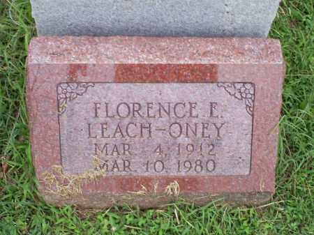 LEACH ONEY, FLORENCE E. - Ross County, Ohio | FLORENCE E. LEACH ONEY - Ohio Gravestone Photos