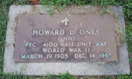 ONEY, HOWARD D. - Ross County, Ohio | HOWARD D. ONEY - Ohio Gravestone Photos