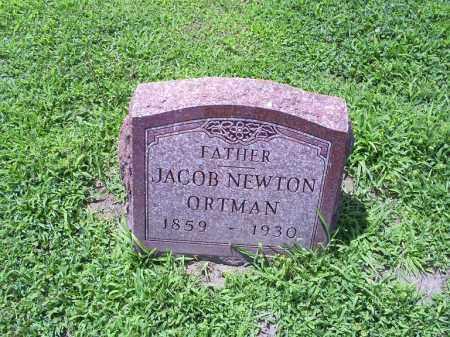 ORTMAN, JACOB NEWTON - Ross County, Ohio | JACOB NEWTON ORTMAN - Ohio Gravestone Photos