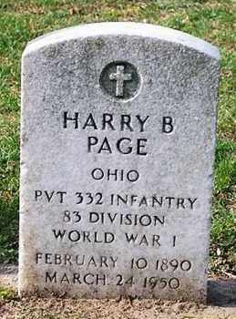PAGE, HARRY B. - Ross County, Ohio | HARRY B. PAGE - Ohio Gravestone Photos