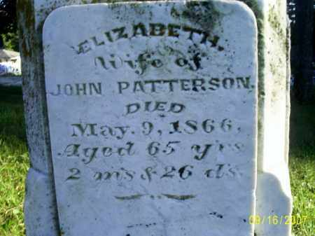 PATTERSON, ELIZABETH - Ross County, Ohio | ELIZABETH PATTERSON - Ohio Gravestone Photos