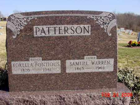 PATTERSON, SAMUEL WARREN - Ross County, Ohio | SAMUEL WARREN PATTERSON - Ohio Gravestone Photos