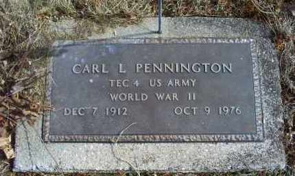 PENNINGTON, CARL L. - Ross County, Ohio | CARL L. PENNINGTON - Ohio Gravestone Photos