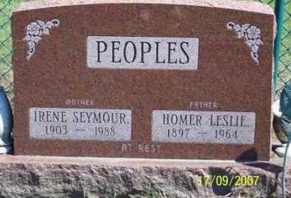 PEOPLES, IRENE - Ross County, Ohio | IRENE PEOPLES - Ohio Gravestone Photos