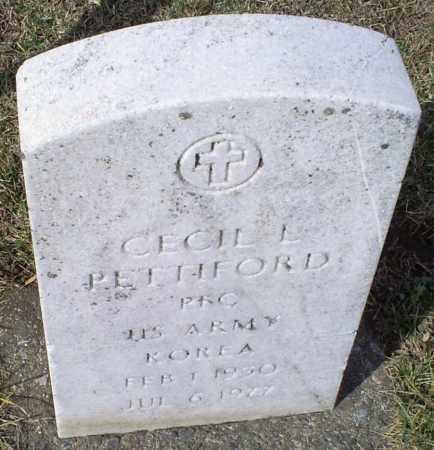 PETTIFORD, CECIL L. - Ross County, Ohio | CECIL L. PETTIFORD - Ohio Gravestone Photos