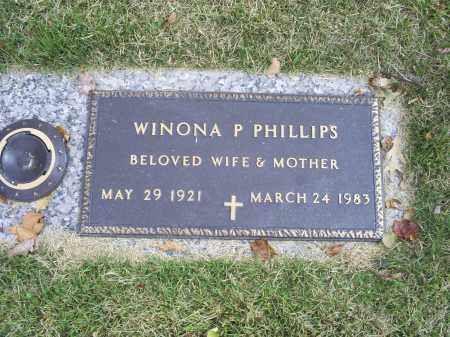 PHILLIPS, WINONA P. - Ross County, Ohio | WINONA P. PHILLIPS - Ohio Gravestone Photos