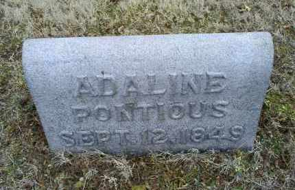 PONTIOUS, ADALINE - Ross County, Ohio | ADALINE PONTIOUS - Ohio Gravestone Photos
