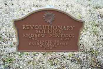 PONTIOUS, ANDREW - Ross County, Ohio | ANDREW PONTIOUS - Ohio Gravestone Photos