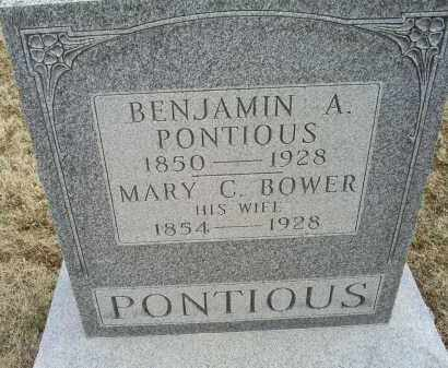 BOWER PONTIOUS, MARY C. - Ross County, Ohio | MARY C. BOWER PONTIOUS - Ohio Gravestone Photos