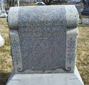 PONTIOUS, CHARLES - Ross County, Ohio | CHARLES PONTIOUS - Ohio Gravestone Photos