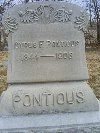PONTIOUS, CYRUS - Ross County, Ohio | CYRUS PONTIOUS - Ohio Gravestone Photos