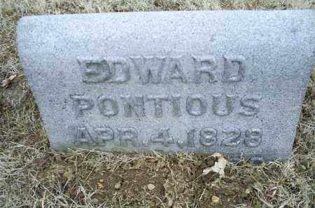 PONTIOUS, EDWARD - Ross County, Ohio | EDWARD PONTIOUS - Ohio Gravestone Photos