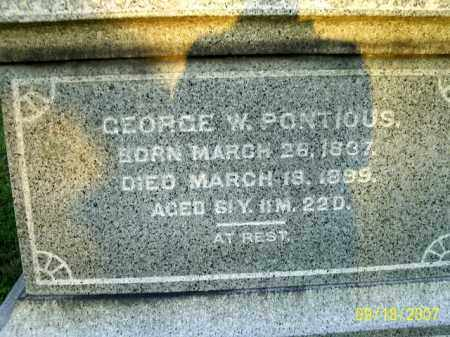 PONTIOUS, GEORGE W - Ross County, Ohio | GEORGE W PONTIOUS - Ohio Gravestone Photos
