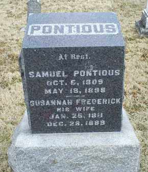 FREDERICK PONTIOUS, SUSANNAH - Ross County, Ohio | SUSANNAH FREDERICK PONTIOUS - Ohio Gravestone Photos