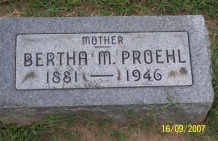 PROEHL, BERTHA M. - Ross County, Ohio | BERTHA M. PROEHL - Ohio Gravestone Photos