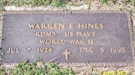 HINES, WARREN E. - Ross County, Ohio | WARREN E. HINES - Ohio Gravestone Photos