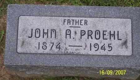 PROEHL, JOHN A. - Ross County, Ohio | JOHN A. PROEHL - Ohio Gravestone Photos