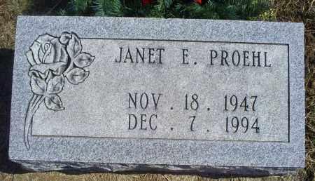 PROEHL, JANET E. - Ross County, Ohio   JANET E. PROEHL - Ohio Gravestone Photos