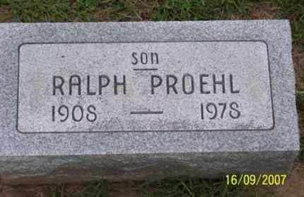 PROEHL, RALPH - Ross County, Ohio | RALPH PROEHL - Ohio Gravestone Photos