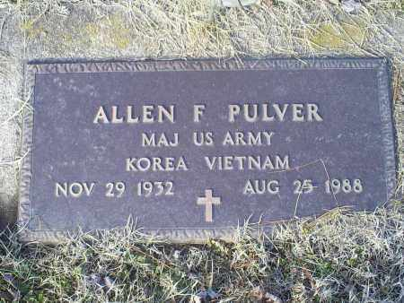 PULVER, ALLEN F. - Ross County, Ohio | ALLEN F. PULVER - Ohio Gravestone Photos