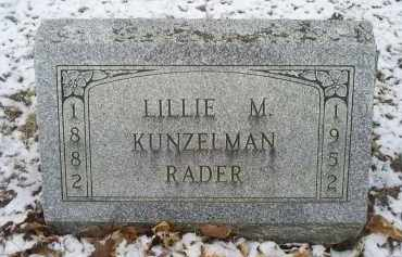 KUNZELMAN RADER, LILLIE M. - Ross County, Ohio | LILLIE M. KUNZELMAN RADER - Ohio Gravestone Photos