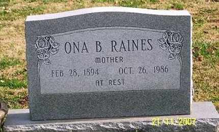 RAINES, ONA B. - Ross County, Ohio | ONA B. RAINES - Ohio Gravestone Photos