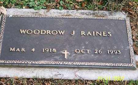 RAINES, WOODROW - Ross County, Ohio | WOODROW RAINES - Ohio Gravestone Photos