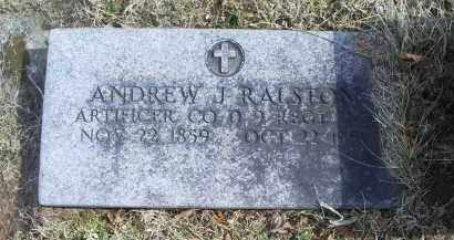 RALSTON, ANDREW J. - Ross County, Ohio | ANDREW J. RALSTON - Ohio Gravestone Photos