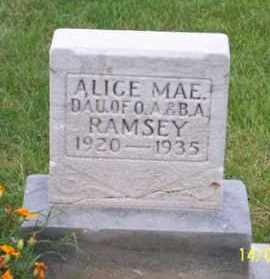 RAMSEY, ALICE MAY - Ross County, Ohio | ALICE MAY RAMSEY - Ohio Gravestone Photos