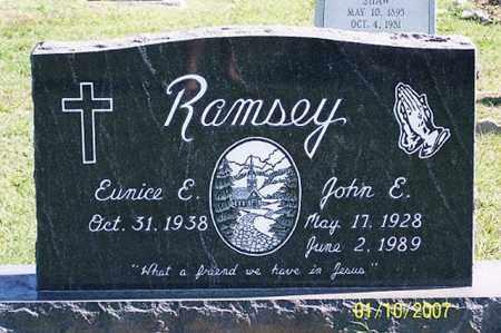 RAMSEY, JOHN E. - Ross County, Ohio | JOHN E. RAMSEY - Ohio Gravestone Photos
