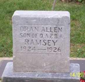 RAMSEY, ORAN ALLEN - Ross County, Ohio | ORAN ALLEN RAMSEY - Ohio Gravestone Photos
