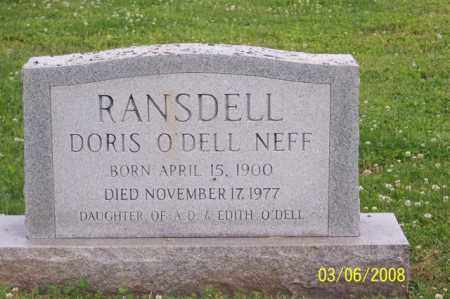 RANSDELL, DORIS - Ross County, Ohio | DORIS RANSDELL - Ohio Gravestone Photos