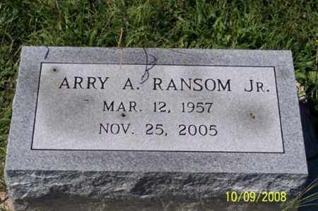 RANSOM   JR., ARRY A. - Ross County, Ohio | ARRY A. RANSOM   JR. - Ohio Gravestone Photos