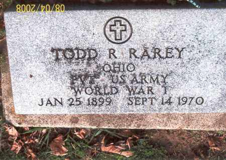 RAREY, TODD - Ross County, Ohio | TODD RAREY - Ohio Gravestone Photos