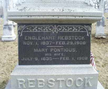 PONTIOUS REBSTOCK, MARY - Ross County, Ohio | MARY PONTIOUS REBSTOCK - Ohio Gravestone Photos