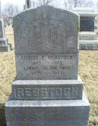 ALBIN REBSTOCK, LINNIE - Ross County, Ohio | LINNIE ALBIN REBSTOCK - Ohio Gravestone Photos
