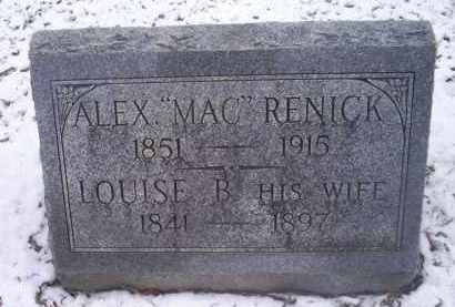"RENICK, ALEX ""MAC"" - Ross County, Ohio 
