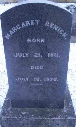RENICK, MARGARET - Ross County, Ohio | MARGARET RENICK - Ohio Gravestone Photos