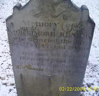 RENICK, MORTIMORE - Ross County, Ohio   MORTIMORE RENICK - Ohio Gravestone Photos